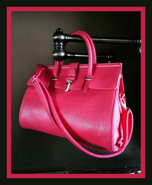 Dark Rose Tube Clasp Handbag