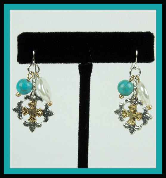 Eastern Cross Earrings