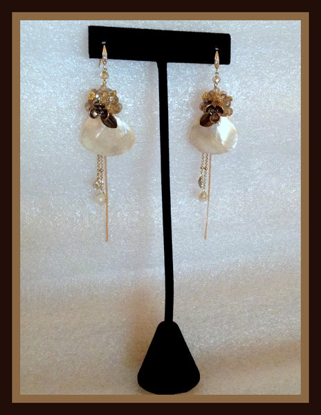Ivory Mother of Pearl Earrings