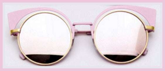 Pink Iconic Round Cat Eye Sunglasses