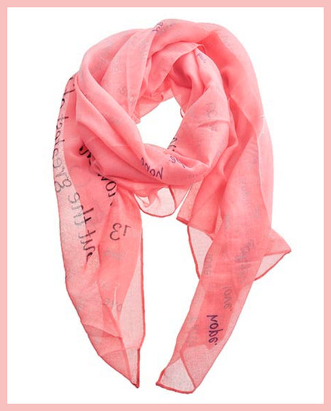 Pink, Religious Message Scarf