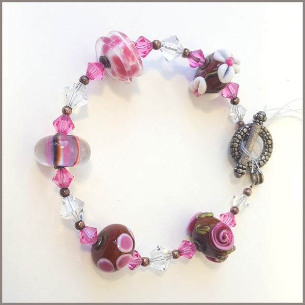 Colorful Glass Bead Bracelet