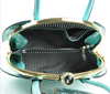 Turquoise Jewel Top Boxy Shell Frame Satchel