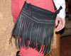 Black Fringe Cross Body