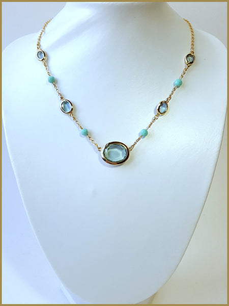 Carolee Blue Stone Necklace