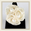 White Triple Rose Ring