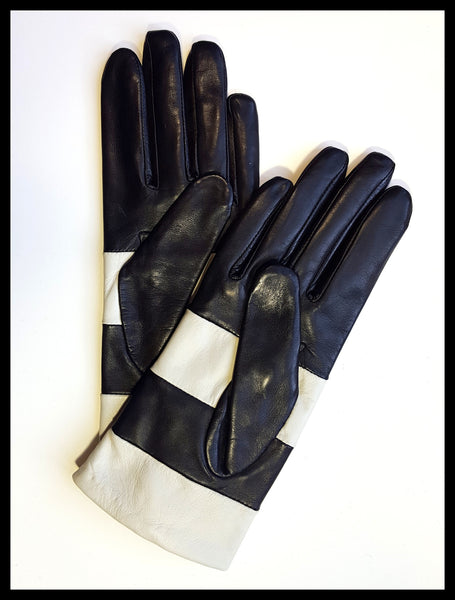 Kate Spade Stripe Leather Gloves