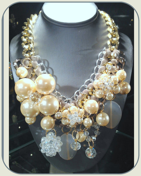 Pearl/Semi-Precious Stone Necklace Set