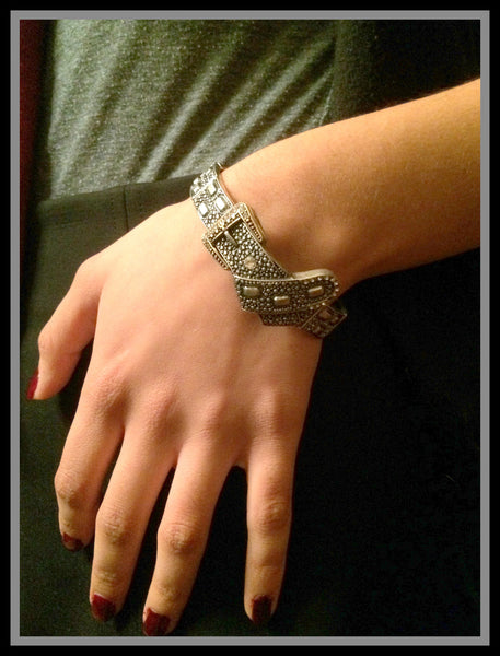 Antique Silver Belt Bracelet