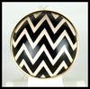 Black & White Chevron Ring