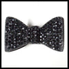 Black Rhinestone Bow Ring