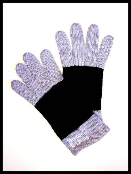 Juicy Couture Gray & Black Stripe Gloves