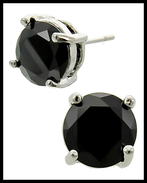 Hematite Cubic Zirconia Earrings