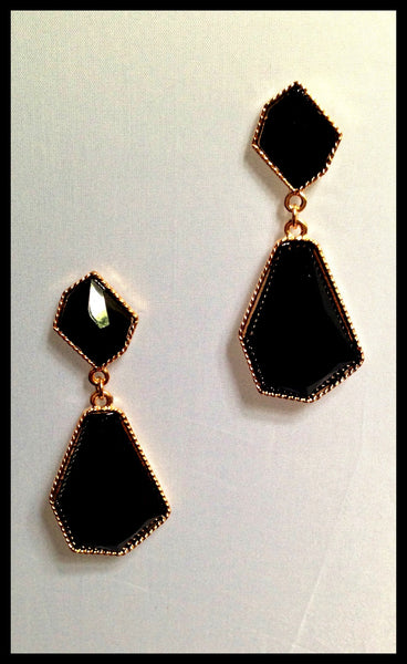 Black Acrylic Earrings