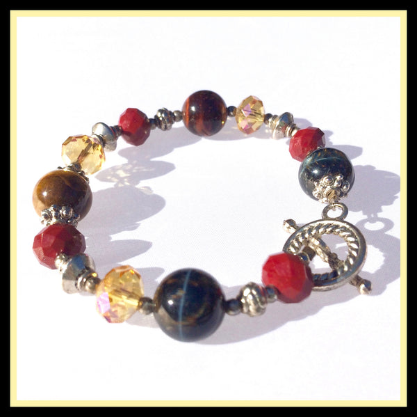 Multi-Colored Stone Bracelet
