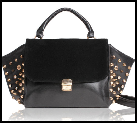 Black Grommet Handbag