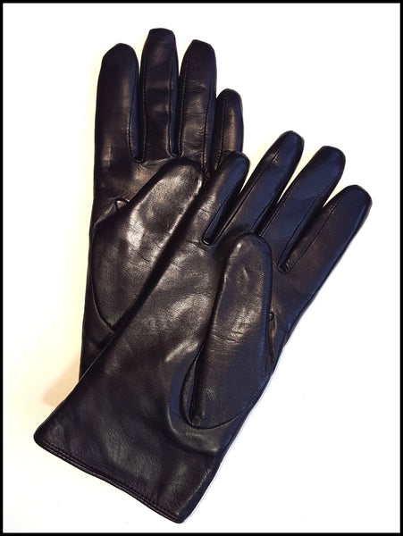 Kate Spade Black Quilted Bow Gloves