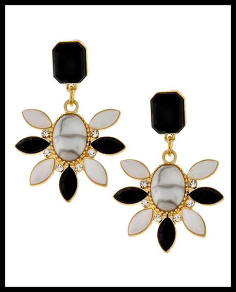 Black & White Dangle Earrings