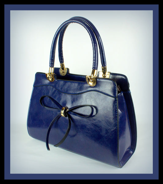 Royal Blue Bow-Tie Bag