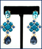 Dark Blue Dangling Earrings