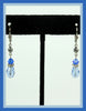 Blue Crystal & Rhinestone Earrings