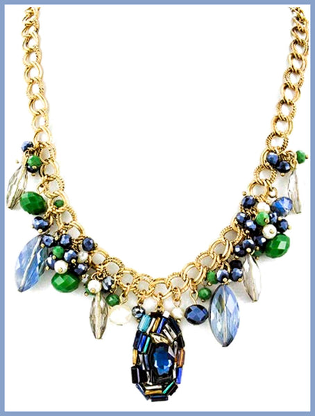 Blue & Green Stone Necklace
