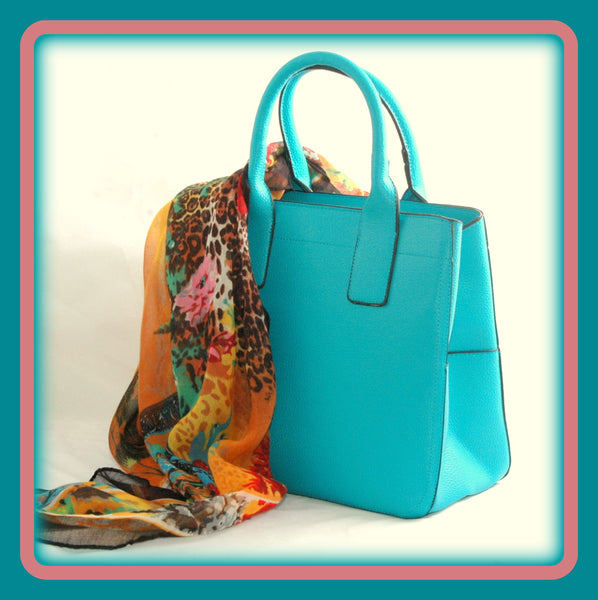 Turquoise Square Tote