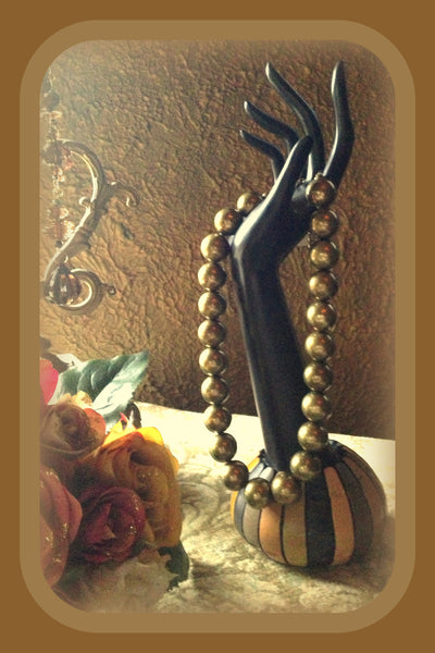 Burnished Gold Pearl Necklace