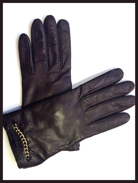 Cocoa Brown Leather Gloves