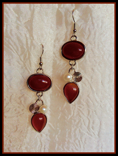 Red-Brown Earrings