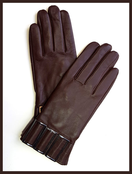 Brown Decorative Michael Kors Gloves