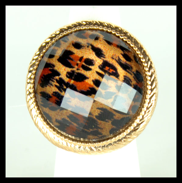 Brown Leopard Ring