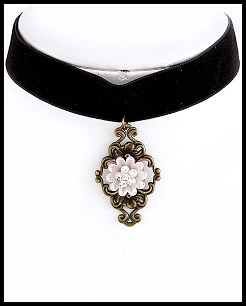 Black/Light Pink Choker