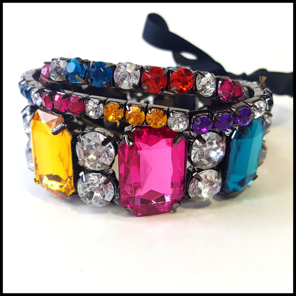Colorful Triple Strand Bracelet