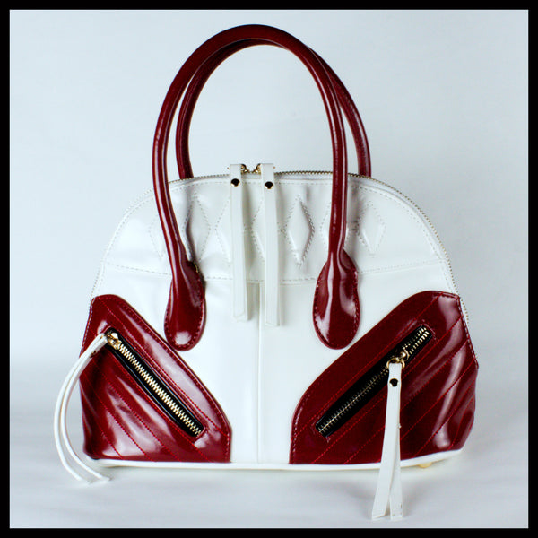 Cherry Red & White Dome Bag