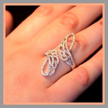 CZ Micro-Pavè Angel Wing Ring