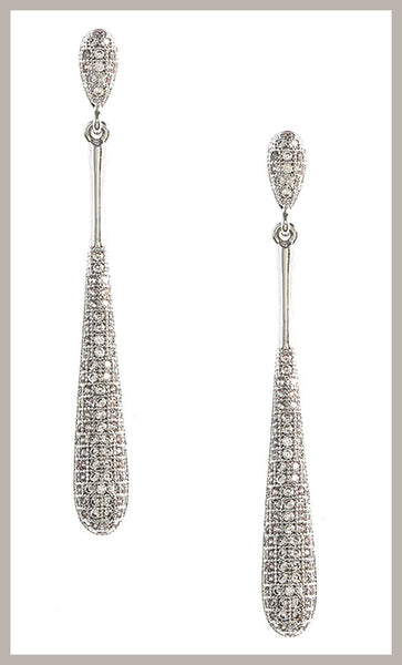 Pavé CZ Teardrop Earrings