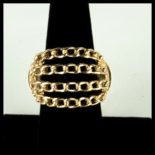 Four Chain Gold Ring