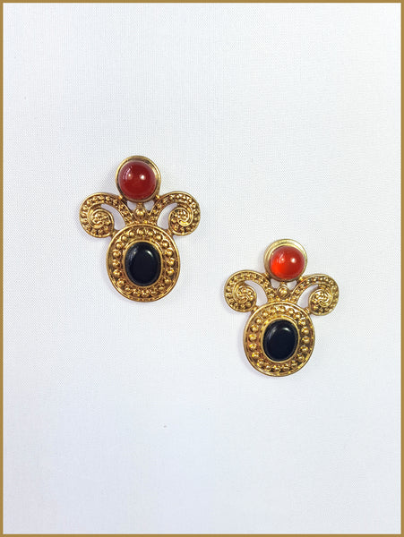 Gold Decorative Earrings