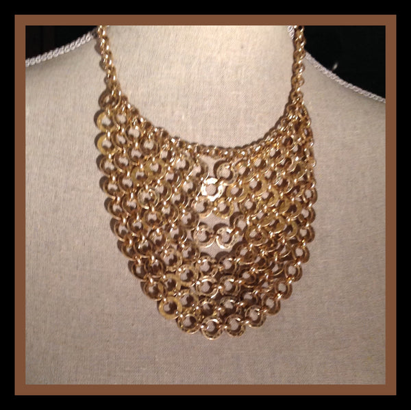 Gold Bohemian Bib Necklace