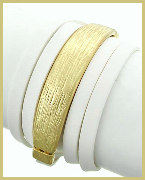 Gold/White Wrap Bracelet