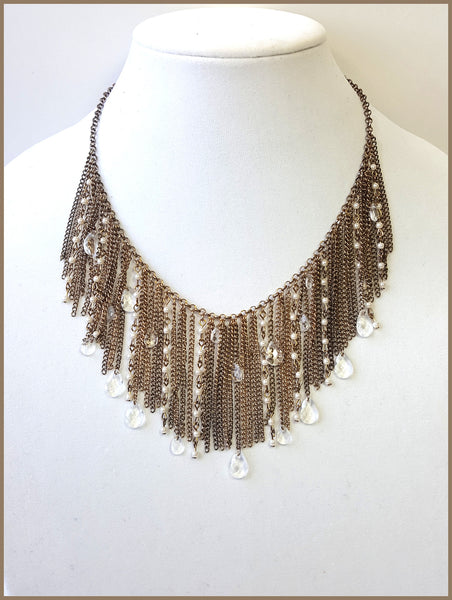 Multi-Strand Bronze Necklace