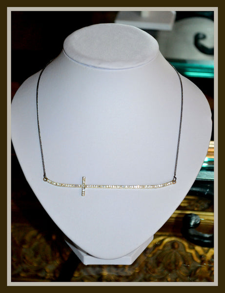 Gold or Silver Cross Necklace