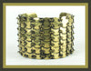 Antique Gold Link Cuff Bracelet