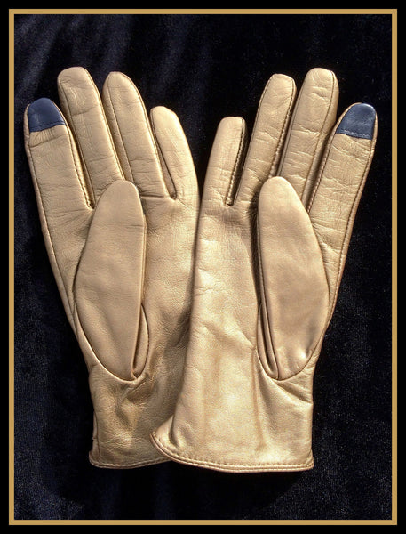 Gold Smartphone Friendly Gloves