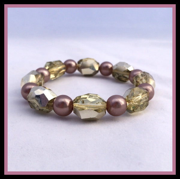 Gold & Brown Bracelet