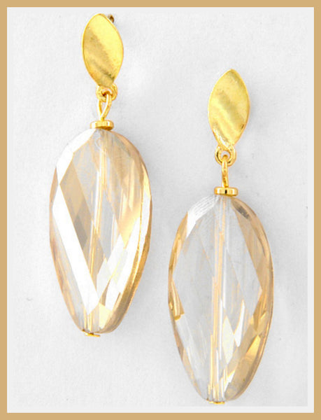 Topaz Teardrop Dangle Earrings