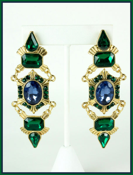 Green & Blue Earrings