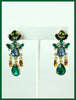 Green, Blue & Amber Earrings