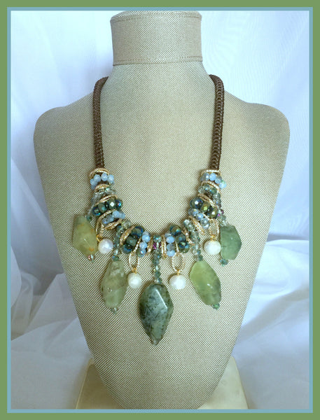 Green Semi-Precious Stone Necklace